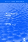 Revival: Peter Maxwell Davies: A Source Book (2002) : A Source Book - eBook