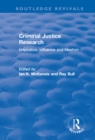 Criminal Justice Research: Inspiration Influence and Ideation : Inspiration Influence and Ideation - eBook