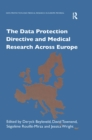 The Data Protection Directive and Medical Research Across Europe - eBook