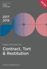 Core Statutes on Contract, Tort & Restitution 2017-18 - eBook