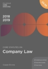 Core Statutes on Company Law 2018-19 - eBook
