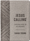 Jesus Calling, Enjoying Peace in His Presence, textured gray leathersoft, with full Scriptures - Book