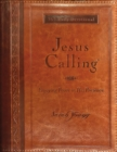 Jesus Calling, Enjoying Peace in His Presence, large text brown leathersoft, with full Scriptures - Book