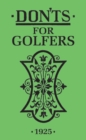 Don'ts for Golfers - Book