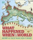 What Happened When in the World : History as You've Never Seen it Before! - Book