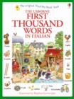 First Thousand Words in Italian - Book