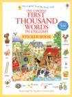 First 1000 Words in English Sticker Book - Book