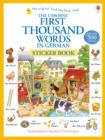First Thousand Words In German Sticker Book - Book