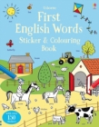 First English Words Sticker and Colouring Book - Book