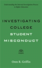 Investigating College Student Misconduct - Book