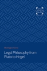 Legal Philosophy from Plato to Hegel - Book