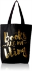 Books Are My Bling Tote. Black - Book