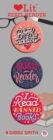 Rebel Reader 3 Badge Set - Book