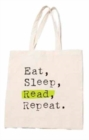 Eat, Sleep, Read, Repeat Tote - Book