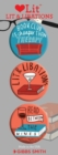 Lit and Libations 3 Badge Set - Book