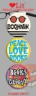 Peace, Love and Books 3 Badge Set - Book