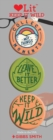 Keep it Wild 3 Badge Set : LoveLit Button Assortment - Book