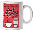 No Talk Before Coffee Mug - Book