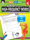 180 Days of High-Frequency Words for Kindergarten : Practice, Assess, Diagnose - Book