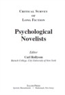 Critical Survey of Long Fiction : Psychological Novelists - eBook