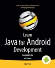 Learn Java for Android Development : Java 8 and Android 5 Edition - Book