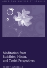 Meditation from Buddhist, Hindu, and Taoist Perspectives - Book