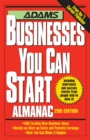 Adams Businesses You Can Start Almanac - eBook