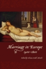 Marriage in Europe, 1400-1800 - Book