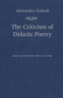 The Criticism of Didactic Poetry : Essays on Lucretius, Virgil, and Ovid - eBook