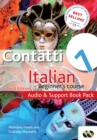 Contatti 1 Italian Beginner's Course 3rd Edition : Audio and Support Book Pack - Book