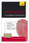 Criminology: A Complete Introduction: Teach Yourself - eBook