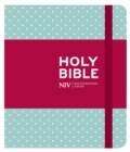NIV Journalling Mint Polka Dot Cloth Bible - Book