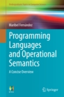 Programming Languages and Operational Semantics : A Concise Overview - eBook