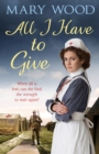 All I Have to Give - Book