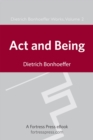 Act and Being - eBook