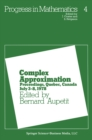 Complex Approximation : Proceedings, Quebec, Canada July 3-8, 1978 - eBook