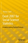 Excel 2007 for Social Science Statistics : A Guide to Solving Practical Problems - eBook