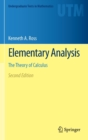 Elementary Analysis : The Theory of Calculus - Book