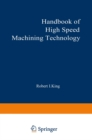 Handbook of High-Speed Machining Technology - eBook