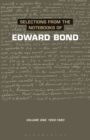 Selections from the Notebooks Of Edward Bond : Volume One 1959-1980 - eBook