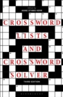 Crossword Lists and Crossword Solver - Book