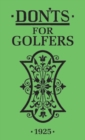 Don'ts for Golfers : Illustrated Edition - Book