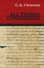 All Things Considered - eBook