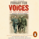 Forgotten Voices Of The Great War - eAudiobook