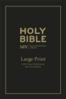NIV Large Print Single-Column Deluxe Reference Bible : Leather - Book