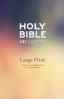 NIV Large Print Single-Column Deluxe Reference Bible : Hardback - Book