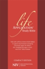NIV Compact Life Application Study Bible (Anglicised) : Red Soft-tone - Book