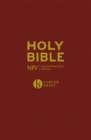 NIV Larger Print Burgundy Hardback Bible - Book