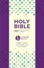 NIV Larger Print Compact Single Column Reference Bible : Hardback - Book