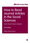 How to Read Journal Articles in the Social Sciences : A Very Practical Guide for Students - Book